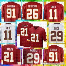 01f8b4238 Top Sale 11 Alex Smith Washington Redskins Jersey 29 Derrius Guice 21 Sean  Taylor 86 Reed 8 Kirk Cousins 91 Ryan Kerrigan Football Jerseys