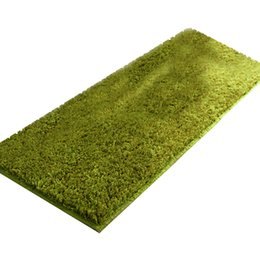 China EHOMEBUY 2018 Rug Plush Long Absorbent Rugs Kitchen Bathroom Carpets Green Modern Fashion Comfortable Soft Machine Washable cheap kitchen rugs suppliers