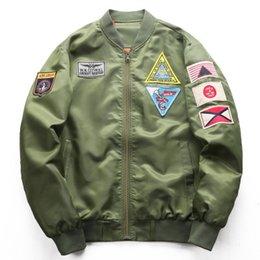 $enCountryForm.capitalKeyWord NZ - New mens designer jacket pilot stand collar jacket windbreaker embroidery baseball uniform men's sports and leisure M-XXXXXXL