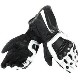 $enCountryForm.capitalKeyWord UK - Free Shipping 2019 Dain 4 Stroke Long White black Adult Cowhide Leather Gloves Racing Glove Motorcycle bike Glove