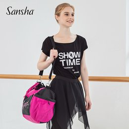 shoulder strap bag sports 2019 - Sansha Women Girls 30L Large Sport Bags With Shoulder Straps Nylon Waterproof Gym Bag For Fitness Training Dance KBAG2 K