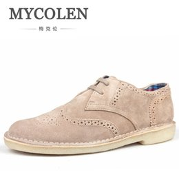 fb807320757 MYCOLEN Men Formal Shoes Low Top Mens Wedding Shoes British Fashion Cheap  Brogue Men Flats Hot Sale Sepatu Kulit Pria