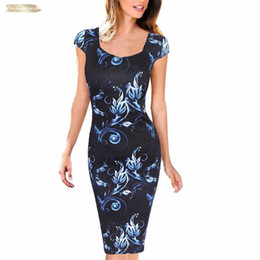 free clothe Australia - Print Casual Summer Sheath Women Dress Floral Dresses Vestidos Free Shipping Plus Size Good Quality Drop Shipping Twill Designer Clothes