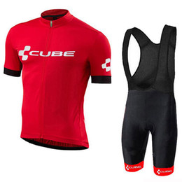 cube short clothing 2019 - Tour de France CUBE Team Cycling Jerseys New men Short Sleeve Summer Bike Clothes and bib shorts Top Bicycle Shirts Cicl