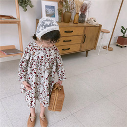Flower girl dresses small online shopping - 2019 Spring New Girls Small Flower Slim Corduroy Dress Baby Korean Long Sleeve Sweet Princess Dress Toddler Kids Casual Clothes Y19061801