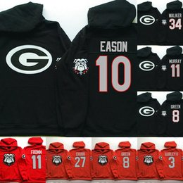 NCAA  1 Sony Michel Hoodie Jersey 3 Todd Gurley II 34 Herschel Walker 8  Green 27 Nick Chubb Football Sweatershirt Jerseys stitched Jacket 39908e414