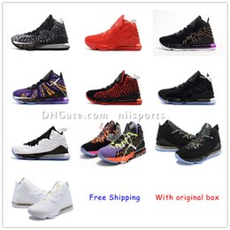 lebron basketball shoes size NZ - 2020 new shoes LeBron XVII 17 Shoes Mens Women Athletic 16s Wolf Grey lebron 17 Basketball shoes Boys Kids size US4-12 With Box