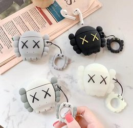 EarphonE gift box online shopping - Christmas gift silicone airpods case Luxury fashion brand Kaws XX Silicone Case For AirPods pumpkin ball Cases Earphone cover
