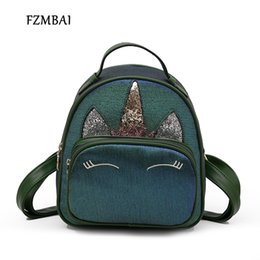 $enCountryForm.capitalKeyWord NZ - Fzmbai Mini Cat Printing Leather Backpack Female 2018 New Korean Fashion Women Cute Small Backpacks J190528