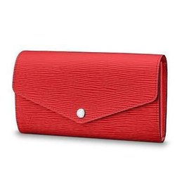 Chinese  2019 M60723 SARAH WALLET Water ripple red Real Caviar Lambskin Chain Flap Bag LONG CHAIN WALLETS KEY CARD HOLDERS PURSE CLUTCHES EVENING manufacturers