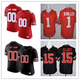 a09007eeace Cheap Mens Ohio State Buckeyes College Football 2 J.K. Dobbins 5 Baron  Browning 10 Amir Riep White Black Red Stitched Personalized Jerseys