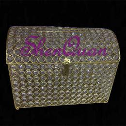 $enCountryForm.capitalKeyWord Australia - New design factory supply crystal iron money box for wedding party decor,holiday decor wedding box centerpiece,card box