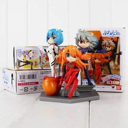 neon genesis evangelion figures Canada - 11cm 3 Styles Eva Neon Genesis Evangelion Asukalangley Soryu Pvc Action Figure Collectable Model Toy For Kids Gift Free Shipping Ems