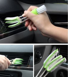 $enCountryForm.capitalKeyWord NZ - Creative Multipurpose Automobile Air Outlet Slot Keyboard Dust Cleaning Brush Removable Soft Double Head Cleaning Tools