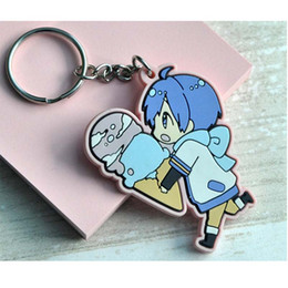 Led Labels NZ - Anime Key Chain Baggage Label PVC Soft Rubber Gift