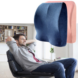 Padded Office Chairs Australia - Travel Seat Cushion Coccyx Orthopedic Memory Foam U Seat Massage Chair Cushion Pad Car Office Massage Home Textile