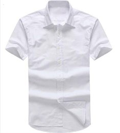 Branded Double Shirts Australia - Fashion-Designer men's Summer Short sleeved Dress shirts 2018 men casual POLO small horse shirts USA Brand RL Oxford social Solid shirt