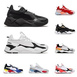 race tracks NZ - 2020 RS-X Reinvention Toys men women casual shoes triple black BRIGHT PEACH Tracks mens breathable trainers platform sneakers size 36-45