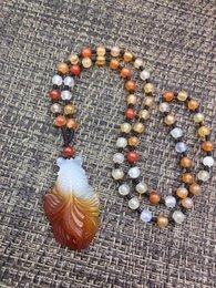 $enCountryForm.capitalKeyWord Australia - Naturally Fashionable White Red Agate Goldfish Shape Pendant Bead Necklace Wholesale