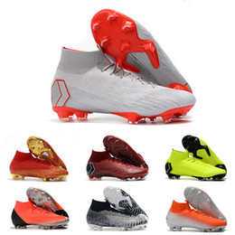 692555511 New Arrival Soccer Cleats Wholesale High Quality Mercurial Superfly VI Elite  CR7 AG Football Boots Superfly VI 360 Neymar FG AG Soccer Shoes
