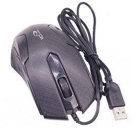 Wholesale HobbyLane M USB Wired Mouse Rechargeable One wheel USB cable length Computer Office Accessories d15