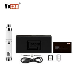 100% Original Yocan Loaded Kit 1400mAh Battery Wax Concentrate Vaporizer Vape Dabber Pen Kit With QUAD & QDC Coil from joyetech ego electronic cigarette suppliers
