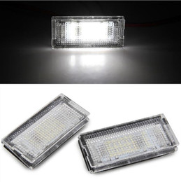 e46 led license plate light Australia - High power 2pcs White 18 LED Number License Plate Lights Lamp Bulb for BMW E46 4D 98-03