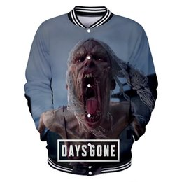 2019 Latest model Zombie game days gone Jackets Men Coats Leisure Sweatshirt Student Warm Winter Clothes Fashion Streetwear 4XL