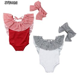 $enCountryForm.capitalKeyWord UK - Striped children swimwear for girls two piece children swimsuits With Head Band girls swimsuit kids bathing suit