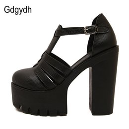 china black sandals UK - Gdgydh Hot Selling 2020 New Summer Fashion High Platform Sandals Women Casual Ladies Shoes China Black White Size EURO 42 Roman Y200323