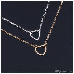 Heart Shaped Chains For Couples Australia - Simple Love Heart bracelet for Lovers Couples jewelry lovers Hollow Heart shaped pendant bracelet silver Gold color