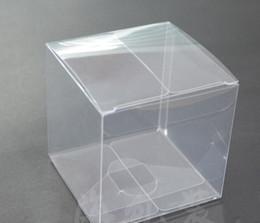 Personal candy online shopping - Transparent Clear Gift Candy Box Square PVC Chocolate Bags Boxes Wedding Favor Party Event Decoration caja de dulces x8x8cm
