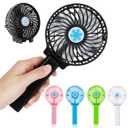 $enCountryForm.capitalKeyWord Australia - Portable Hand Fan USB Rechargeable Foldable Handheld Mini Fan Cooler 3 Speed Adjustable Cooling Fan Outdoor Travel Air Cooler With Battery