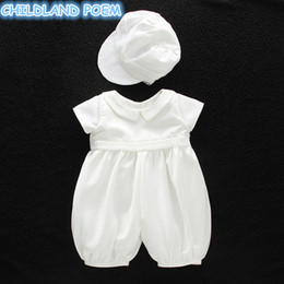 $enCountryForm.capitalKeyWord Australia - Baby Girl Baptism Gown Boys Christening Clothes 1st Birthday Party Wedding Baby Boy Clothes Dress Gentleman Outfit With Hat