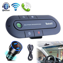 wholesale bluetooth handsfree car kit Australia - Handsfree Bluetooth Car Kit Wireless Bluetooth Stereo Speaker Phone MP3 Music Player Transmitter With Dual USB Charger