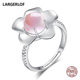 $enCountryForm.capitalKeyWord Australia - LARGERLOF Real 925 Sterling Silver Ring Women Fine Jewelry Rose Quartz Wedding Rings For Women RG50001 S18101002