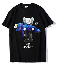 Chinese  9102 new tee black di men or women Doll bear hug toys printing rhinestone T-Shirt short Sleeve O-neck T-Shirt wholesale S-XXL manufacturers