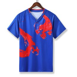 Sportswear T Shirt Badminton Australia - Men Table Tennis Shirt Jersey Mens Outdoor Sport Clothing T-shirt Badminton Football Soccer Jerseys Shirts Clothes Sportswear