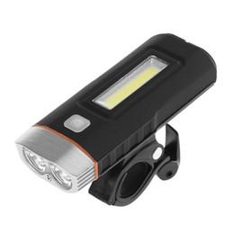 $enCountryForm.capitalKeyWord UK - Dual Two T6 LED Lights Bicycle Headlight Bike LED Lamp COB Front Light 500Lumens 2X18650 Battery USB Rechargeable Bike Part NEW #738531