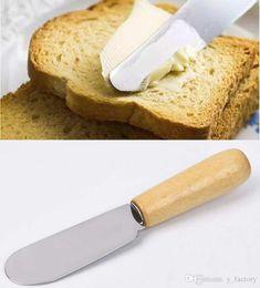$enCountryForm.capitalKeyWord Australia - Stainless Steel Butter Spatula With Wood Handle Butter Knife Sandwich Cream Cheese Dessert Jam Spreader Breakfast Tool