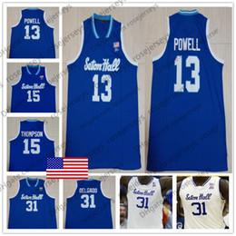 79f8501c1ade Custom NCAA Pirates College Basketball Blue White Jersey Any Number Name  1  Michael Nzei 13 Myles Powell McKnight Myles Cale Delgado S-4XL