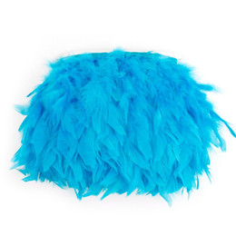 ostrich plumes sale Australia - 10m pack Turquoise Turkey Marabou Feather Trimming Fringe Skirt Dress Feather Trim Bordure De Plumes Borde De Plumas For Sale