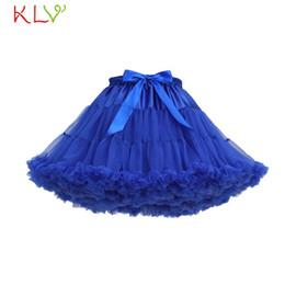 Red White Blue Tutus Australia - Skirts Womens Fluffy Tutu Rok Dames Blue White Tulle Adult Sexy Mini Skirt High Empire Faldas Mujer Moda 2019 De Verano 18Jan16