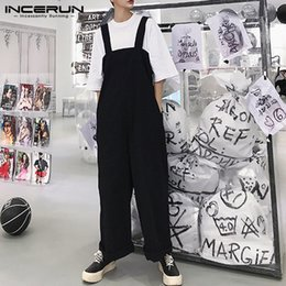 Fitted Jumpsuits Australia - Brand Baggy Men Wide Legs Pants Loose Fit Big Trousers Male Bottom Jumpsuits Overall Coveralls Playsuits Jumpsuits 5XL Hombre