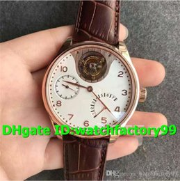 18k Luxury Watches Swiss Australia - TF New Luxury 504202 Watch Swiss Seagull Automatic Power reserve Tourbillon 18K Rosegold Case White Dial Brown Leather Strap Mens Watch