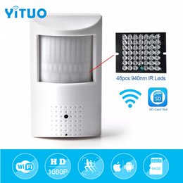 Onvif Camera Sd Australia - YITUO WIFI 2.0MP 1080P Outdoor PIR IP Camera 940nm Invisible Night Vision Audio Mini Indoor ONVIF P2P with SD Card Slot