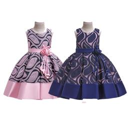 $enCountryForm.capitalKeyWord Australia - Kids Girls Summer Princess Dresses Floral Sash Invisible Zipper Embroidered Sleeveless Bow Tie Dress 2 Colors Kids Designer Party TUTU 2-8T