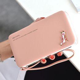 Wrist Strap Wallet Australia - 2019 Women Lunch Box Wallet Fashion Long Design High Heel Shoes Wallet Ladies Wrist Strap Coin Purse Large Capacity Wallet