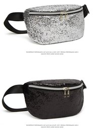 Packing For Cosmetics Australia - Sequin Glitter Waist Fanny Pack Mermaid Waist Bag Sparkly Purse Pouch Pocket Clutch Cosmetic Makeup Bags for Beach Travel Party Festival