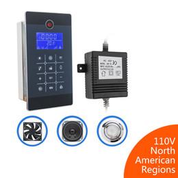 Radio Control Australia - A800 Induction Shower FM Radio Control Controller Shower Cabin Accessory with Temperature Sensor LCD Screen Display